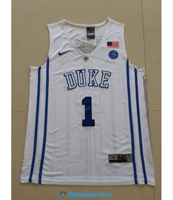 CFB3-Camisetas Zion Williamson Duke Blue Devils [W...